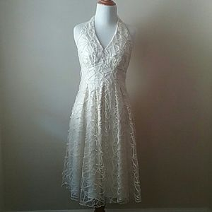 Eva Franco Crochet Lace Cream Dress